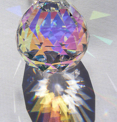 30mm ASFOUR Aurora Borealis German CRYSTAL faceted ...