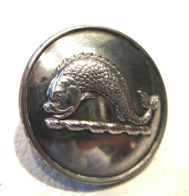 Wonderful DOLPHIN LIVERY Button, 19th c., Firman & Sons, London