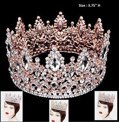Tiara  Crystal Rhinestone Princess Queen Bridal Wedding Crown Teardrop Prom -