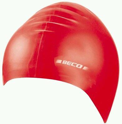 Silikon Badekappe Schwimmhaube Badekappen Beco 7390 Rot Erwachsene Unisex