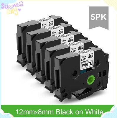 5 Pcs Tze-231 Pt-d210 12mm Tze Tape Compatible For Brother P-touch Printer
