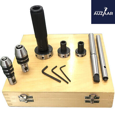 Lathe Tailstock Tap Die Holder Kit Mt3 Shank Threading Tapping Set Wooden Box