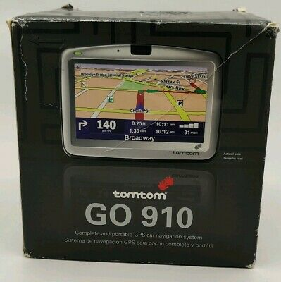 TomTom GO 910, GPS car navigation system with accessories