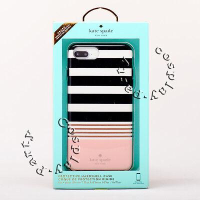 Kate Spade iPhone 6 Plus iPhone 6s Plus Hardshell Case - Black White Pink Stripe