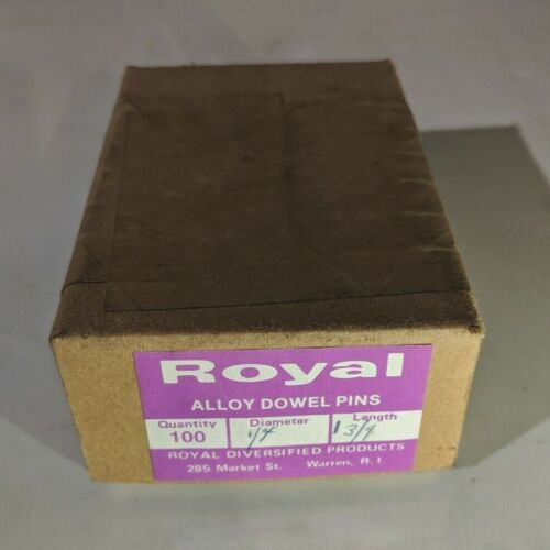 """Pack of 100 - 1/4"""" x 1-3/4"""" Royal Dowel Pins Alloy Steel"""