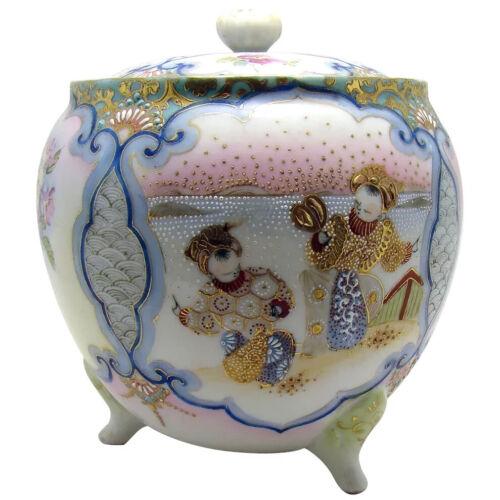 Japanese Enameled Porcelain Biscuit Jar - 1910