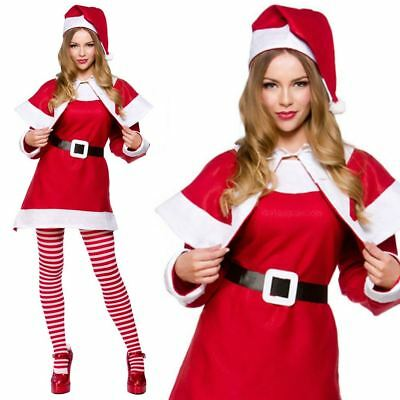 Miss Santa Costume Womens Mrs Claus Father Christmas Xmas Fancy Dress Outfit](Miss Santa Claus Outfit)