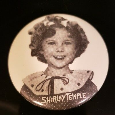 "Vintage Shirley Temple Pin Back Button Nostalgia 2 1/4"" Rare"