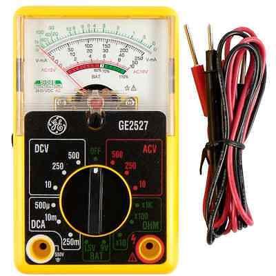 Analog Multimeter Volt Ohm Ac Dc Multi Meter V-voltage A-amp General Electric