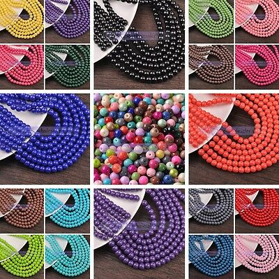 8mm Seed Beads - 4mm/6mm/8mm Round Glass Coated Colors Loose Spacer Seed Beads
