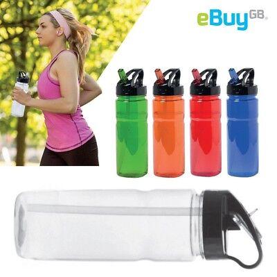 Flip Straw TRITAN 600ml Sports Water Bottle Leak Proof Cycling Hiking BPA FREE