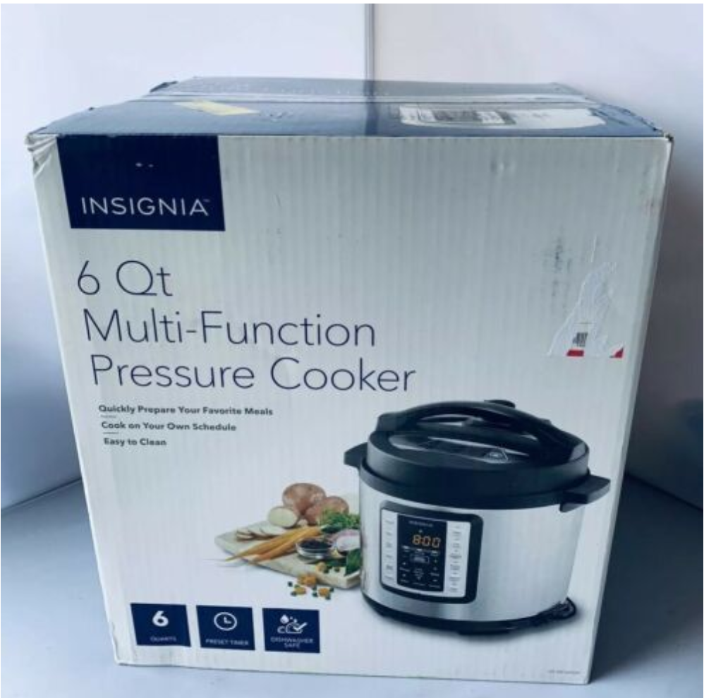 Insignia 6 Quart Multi-Function Pressure Cooker Stainless St