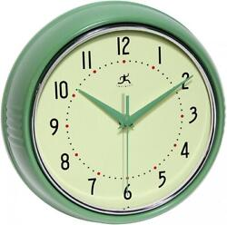 Infinity Instruments Round Green Retro Indoor Wall Clock 1-(Pack)