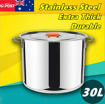 30L Cookware Casserole Stockpot Stock Pots Cooking Kitchen Set Stainless Steel