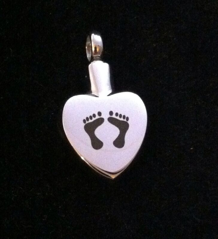 Cremation+Jewellery+Silver+Necklace+Pendant+Locket+for+Ashes+Hair+Footprints+%2A3