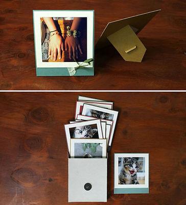 4x4 Inch Paper Photo Frames- INSTAFRAME - Color -10 Standable Paper Frames Lot