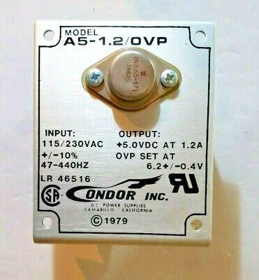 Condor Power Supply A5-1.2ovp 115230vac 5vdc
