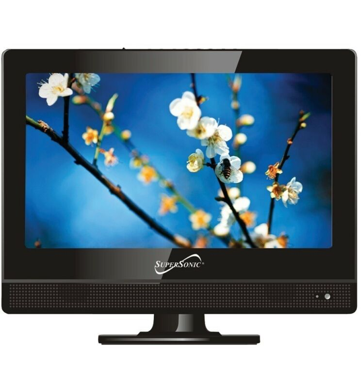 """SuperSonic SC1311 13.3"""" HD LED TV with AC/DC power adapte,"""
