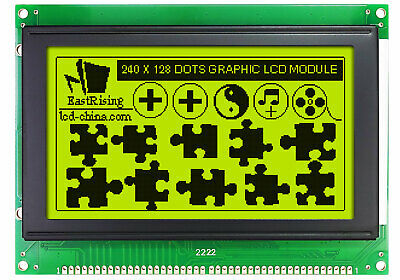 Low-cost 240128 240x128 Graphic Lcd Module Display Yellow Black Color