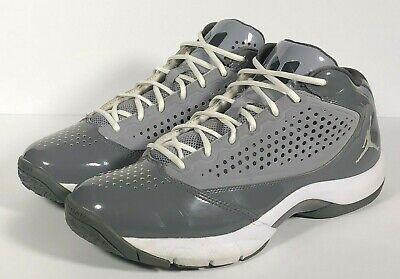 Men's Air Jordan DWADE D'REIGN Grey White Basketball Shoes Size 12 for sale  Yukon