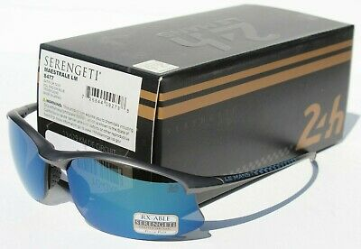 SERENGETI Maestrale POLARIZED Sunglasses Black/PhD 555 Blue Le Mans Japan (Serengeti Maestrale)