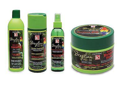 Fantasia Hair Care (Fantasia ic Brazilian H Hair Oil Moisturising Kertain Hair Care Styling Products)