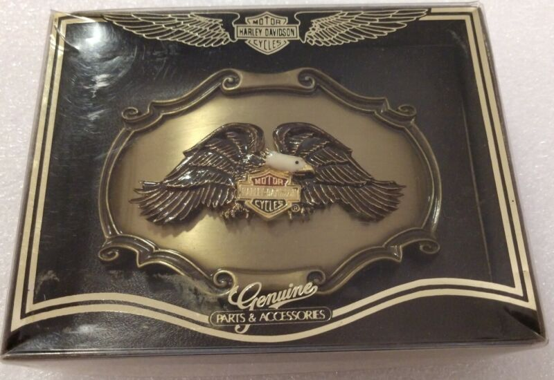 RARE HARLEY DAVIDSON 75TH ANNIVERSARY 1978 RAINTREE SPREAD EAGLE BELT BUCKLE