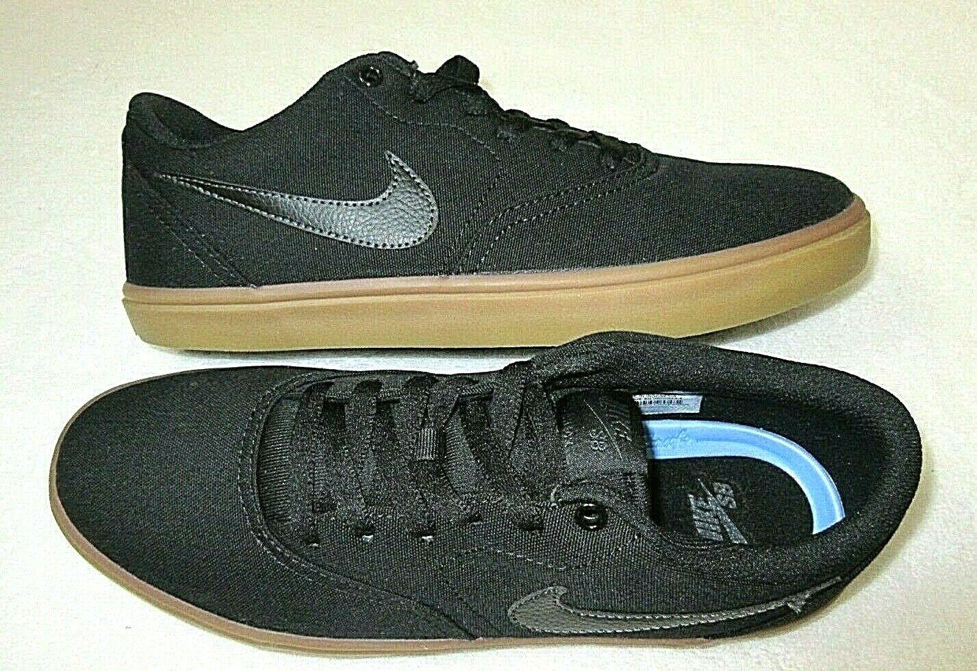 Nike Men's SB Check Solarsoft Canvas Skateboarding Shoes Bla