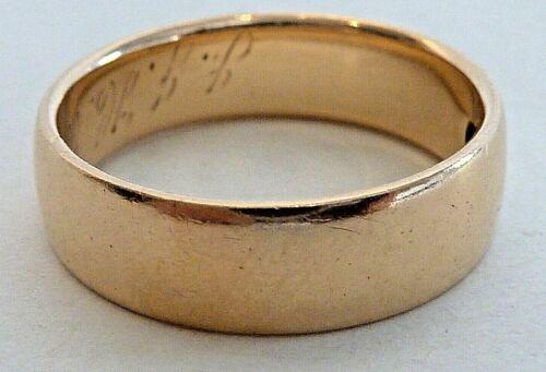 NICE WEIGHT ANTIQUE 18 KARAT YELLOW GOLD WEDDING BAND MEASURING SIZE 7