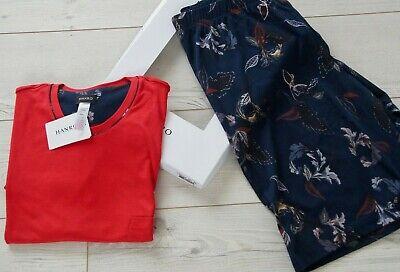HANRO OF SWITZERLAND Narius Pyjama Shorts Mallow Red Floral XXL