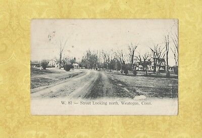Ct Simsbury Weatogue 1906 Vintage Postcard Homes Conn To North Branford Mass