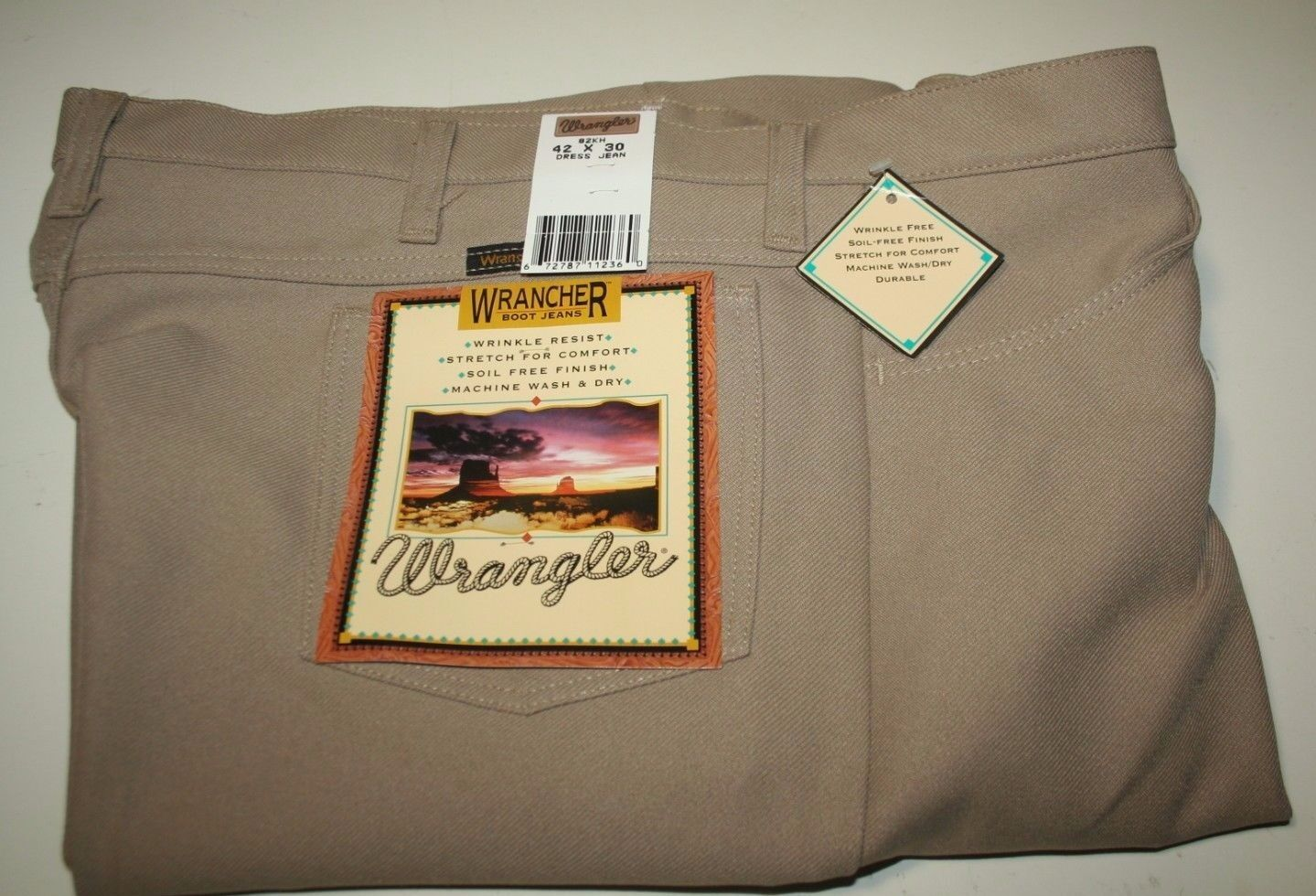 Wrangler Men's Wrancher Dress Pant,Dark Beige,29x32