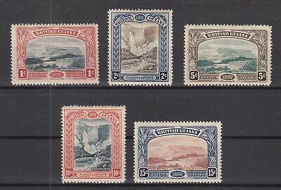 EJ9626/ BRITISH GUIANA – SG # 216 / 221 COMPLETE MINT MH – CV 180 $
