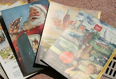 LOT of 39 National Geographic Coca-Cola Ad Back Pages 1934 to 1953