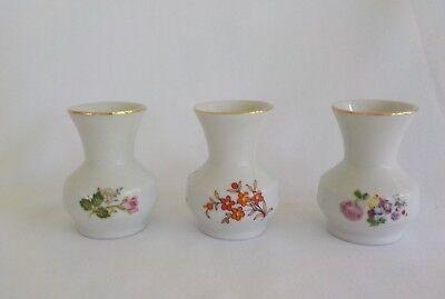 Schmidt Small Porcelain Bud Vase Total 3 Mini Flower Floral Brasil by Leart  - Mini Vases