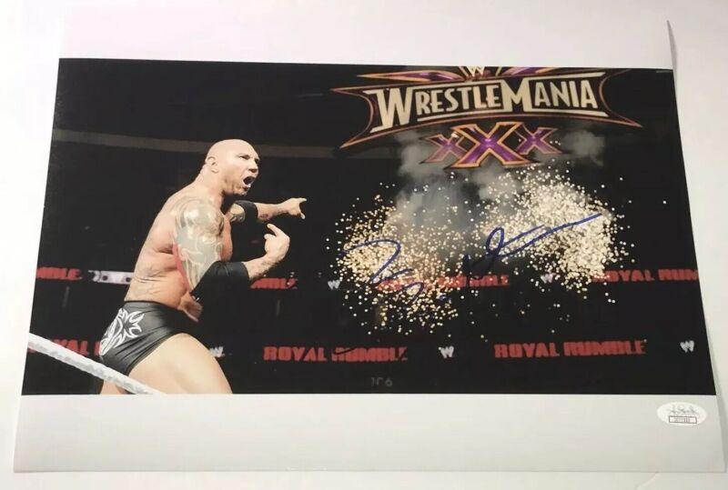DAVE BAUTISTA Signed WRESTLING WWE Wrestlemania 11x14 Photo Autograph JSA COA