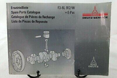 DEUTZ SPARE PARTS CATALOGUE F3-6L 912/W +  E-PAC