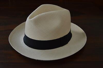 $58 JCREW Panama Hat Straw Fedora natural beige brown 23793 size S-M