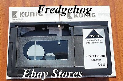 VHS-C ADAPTER TO ALLOW YOU TO PLAY YOUR CAMCORDER TAPES THROUGH YOUR VIDEO