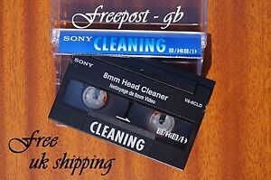 SUPERB-SONY-V8-6CLD-Video-8-8mm-Hi8-Digital-8-Head-Cleaning-Tape-Cassette