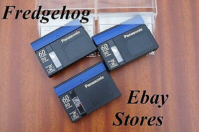A PACK OF 3 x PANASONIC DVM60 MINI DV DIGITAL VIDEO CAMCORDER TAPES / CASSETTES