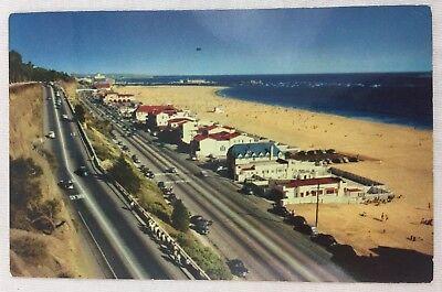 Vintage Postcard Santa Monica Beach Movie Stars Homes on the Beach Pacific Ocean