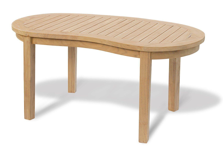 Premium Teak Banana Oval Coffee Table Kidney Shaped Wood Side 2 Sizes