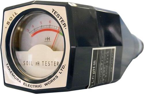 TAKEMURA Electric Works Soil Acidity pH Meter Tester DEMETRA DM-13 made in Japan