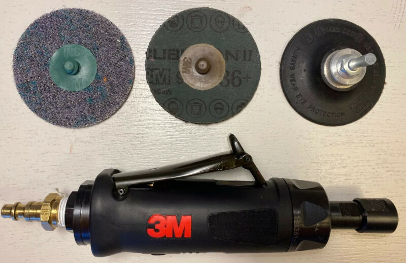 "3M PNEUMATIC DIE GRINDER 20237 1 HP 1/4"" COLLET 20,000 RPM. MADE IN USA"