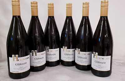 6 Stück Winzer Mosel Weingut Glühwein Rot 1 liter Flasche 10.5 % Vol = 6 liter