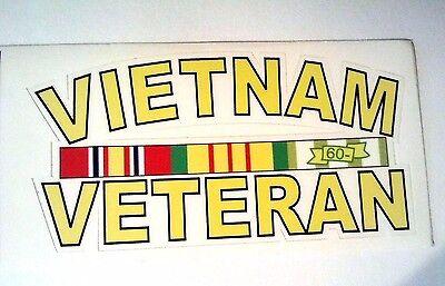 """Vietnam Veteran Vinyl Decal 4""""x 2 1/2"""""""