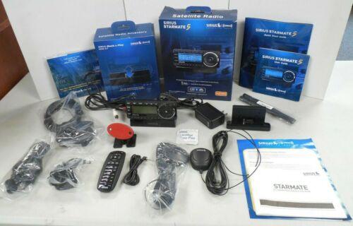 Sirius XM Satellite Radio Starmate 5 System + Dock & Play Home Kit + HP Antennas