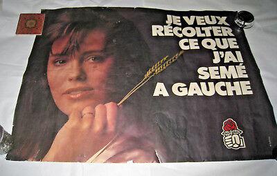 Vintage Worn French Socialist International Poster 23/31 Harvest what I sowed