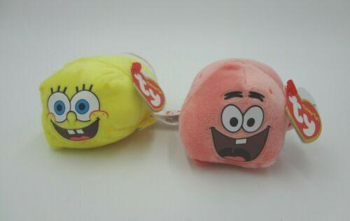 Teeny Tys Spongebob Squarepants & Patrick Star Beanbag Plush Toy Pair by Ty 2016